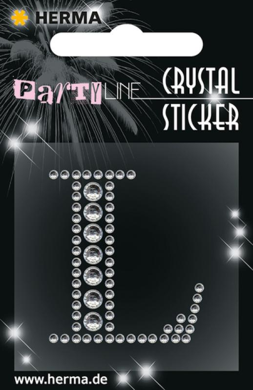 Party Line Crystal Sticker Buchstabe L