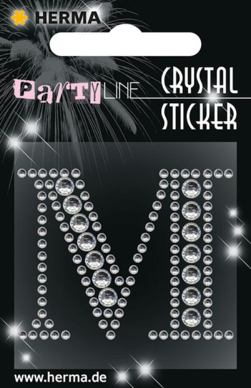 Party Line Crystal Sticker Buchstabe M