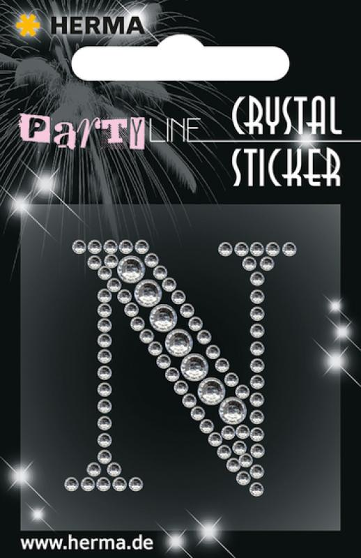 Party Line Crystal Sticker Buchstabe N