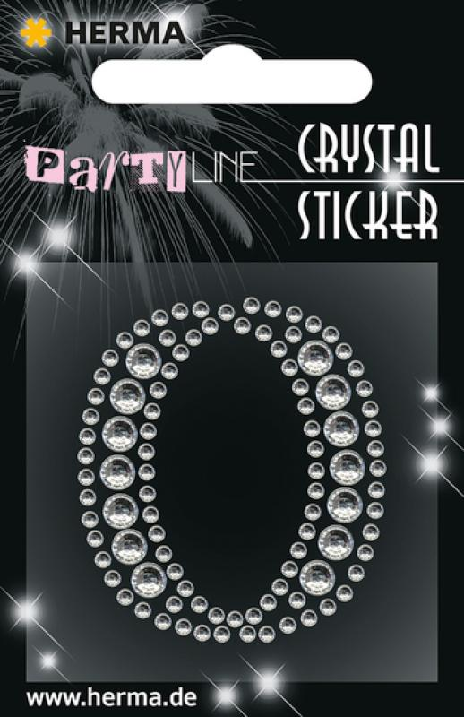 Party Line Crystal Sticker Buchstabe O