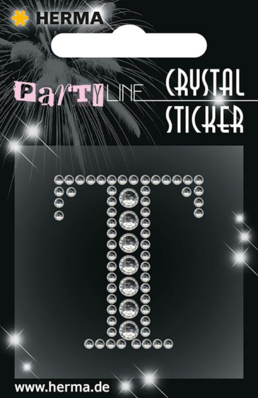 Party Line Crystal Sticker Buchstabe T