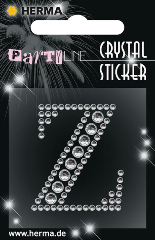 Party Line Crystal Sticker Buchstabe Z