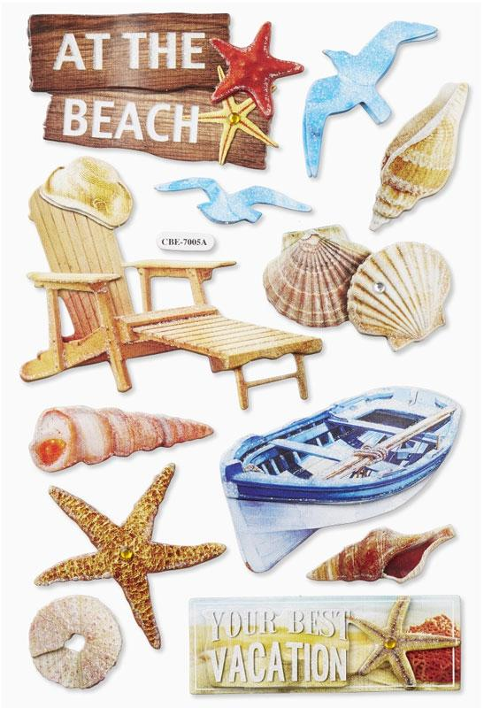 3D Sticker Beach I