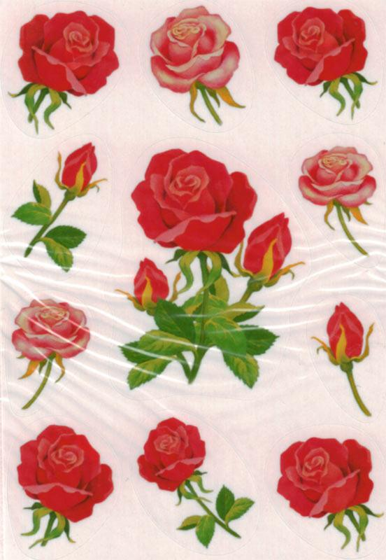 Flower decoration stickers roses