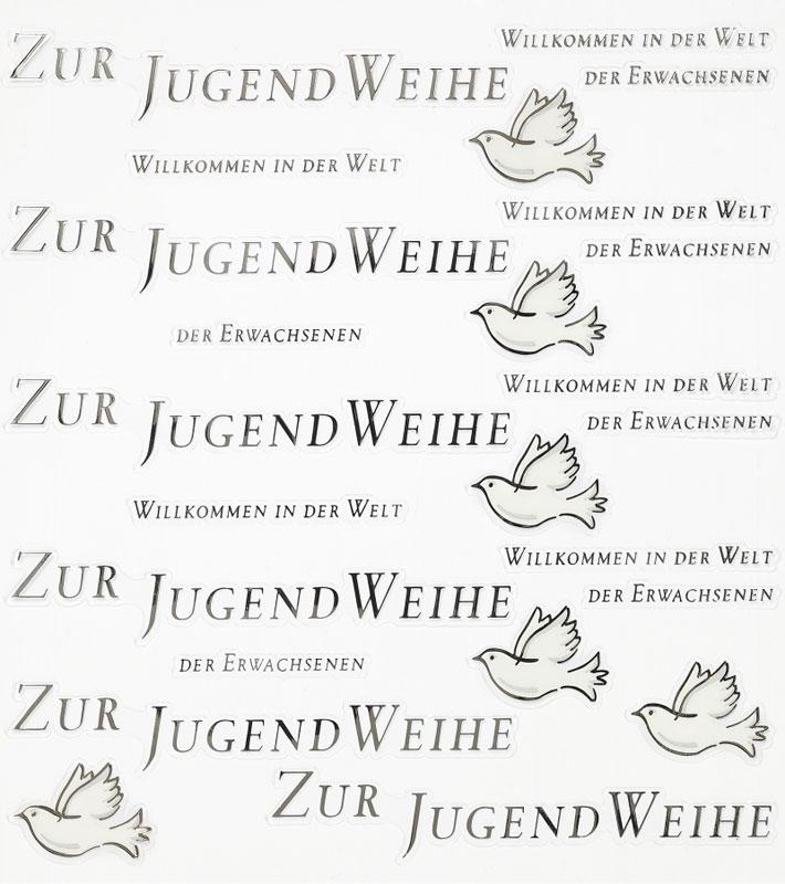 Design Sticker Zur Jugendweihe I