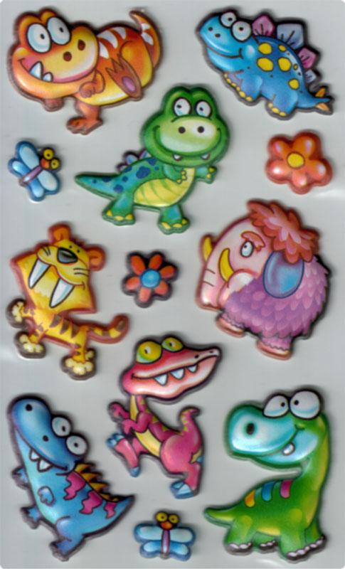 Foam Sticker funny dinosaurs