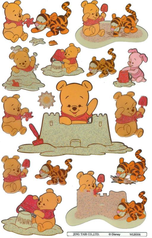 Glossy stickers Baby Pooh IV