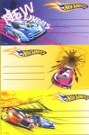 Heftetiketten Hot Wheels