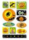 Halloween Spiders Foam Stickers