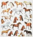 Metallic Design Sticker horses