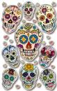 Puffy stickers skulls 27 stickers