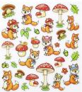 Design Sticker Foxes II