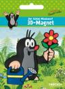 3D magnet The little mole with flower